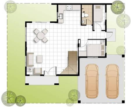 camella greta ground floor plan