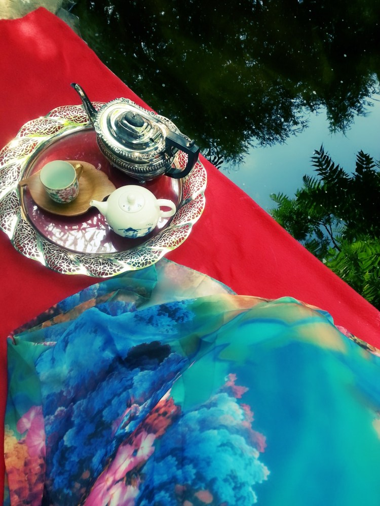 Morning tea by the pond