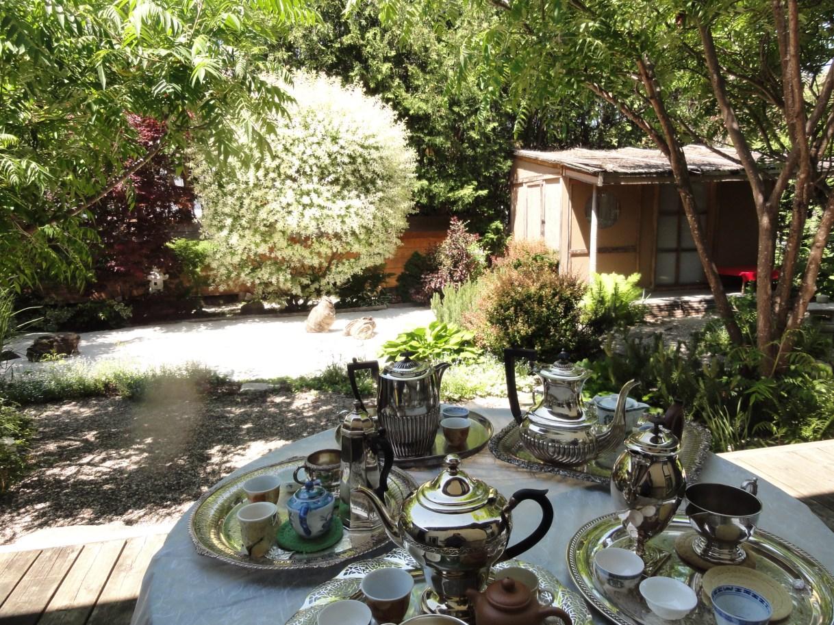The zen-inspired garden at Camellia House