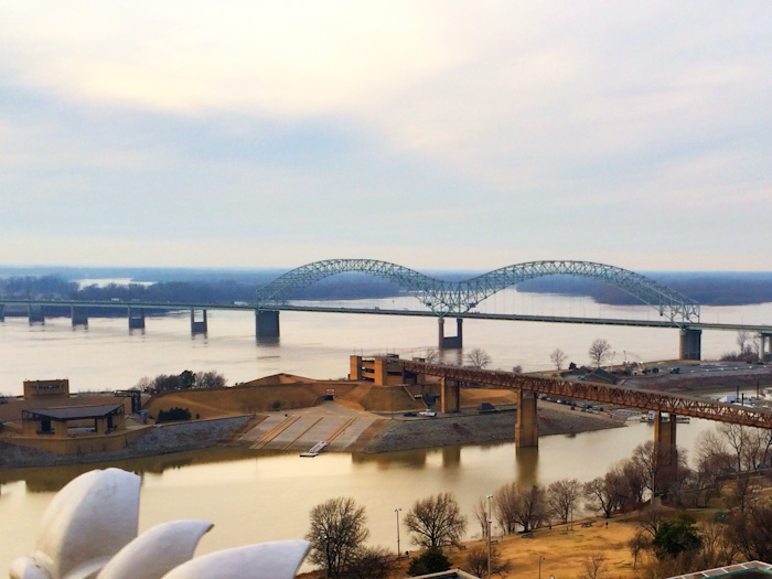 View over the Mississippi River in Memphis