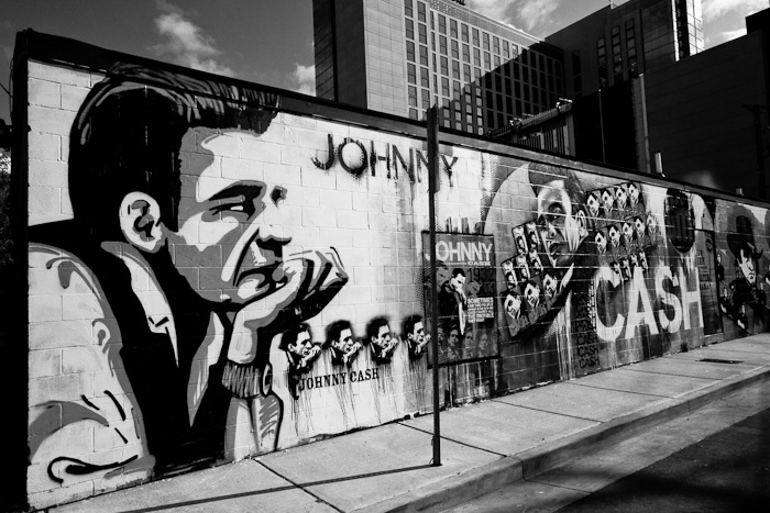 Johnny Cash wall in Nashville