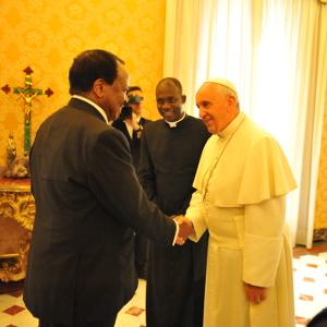 Cameroun - Vatica:  Paul Biya en tête-à-tête avec le pape François:Cameroon