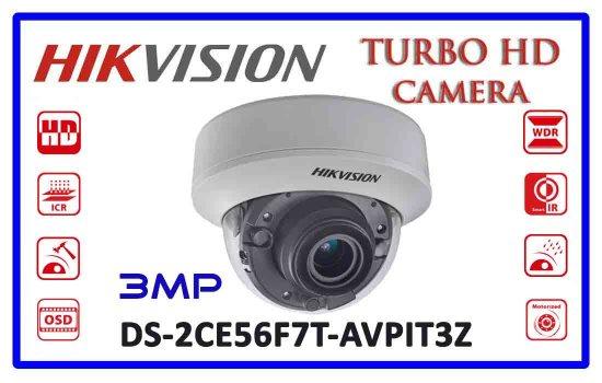 DS-2CE56F7T-AVPIT3Z - Hikvision 3mp Turbo HD Camera Advanced Digital technology Colombo