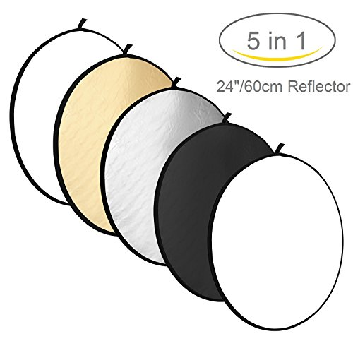Kamisafe 2460cm 5 in 1 collapsible multi disc photography light kamisafe 2460cm 5 in 1 collapsible multi disc photography light reflector with carry bag for studio outdoor lighting translucent silver gold aloadofball Gallery