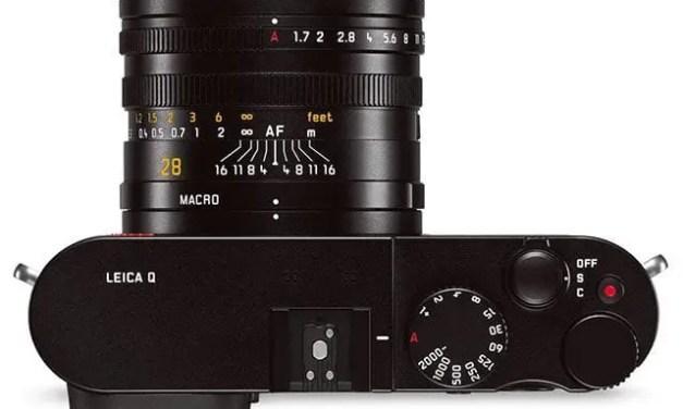 Leica Q firmware update optimises EVF, expands shutter speeds