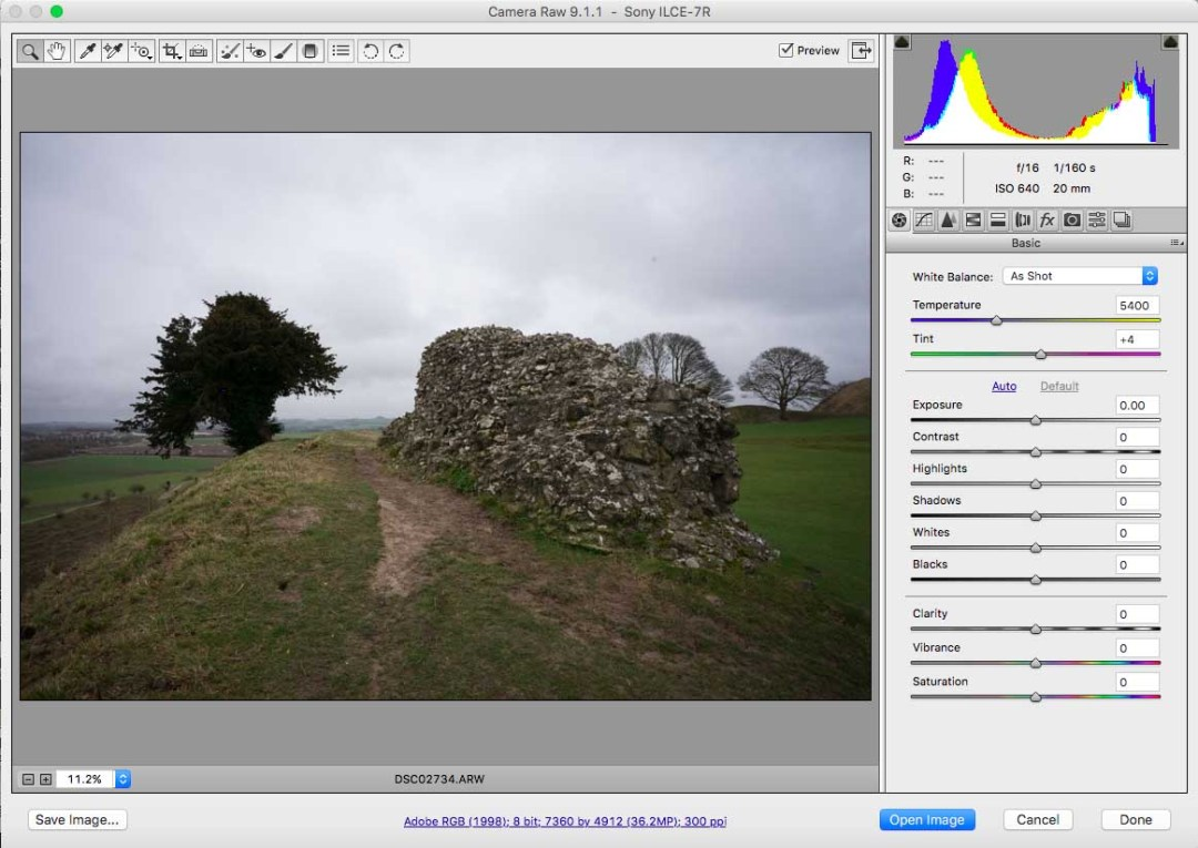How to correct colour balance in landscapes