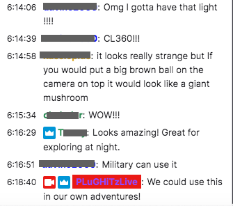 Chat session during one of the podcasts.