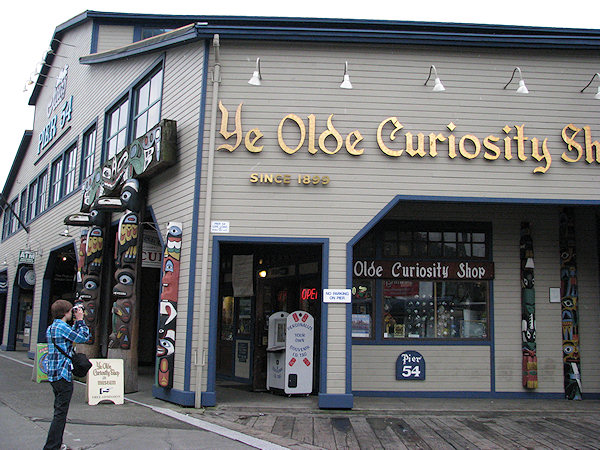 Ye Old Curiousity Shop on Seattle Waterfront with Dave Moyer - by Lorelle VanFossen