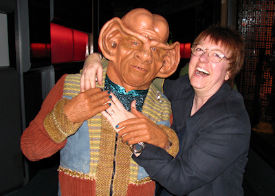 Lorelle VanFossen with Ferengi, Star Trek Experience Las Vegas