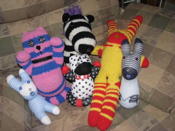 Sock dolls handmade by Lorelle VanFossen