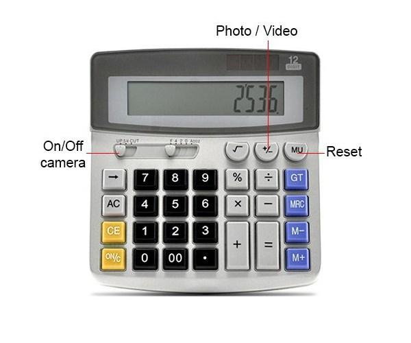 Calculatrice Caméra Espion