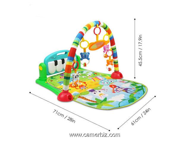 baby s piano gym mat tapis musical d eveil et d activite piano pour bebe aire de jeu