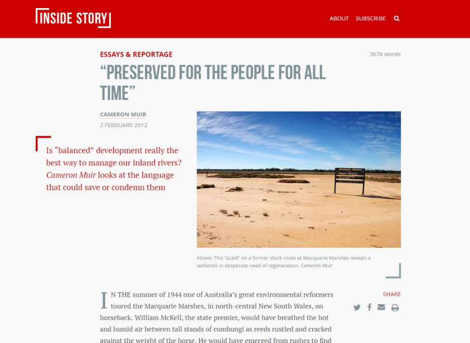 marshes inside story
