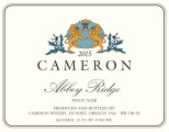 2015 Abbey Ridge Pinot noir label