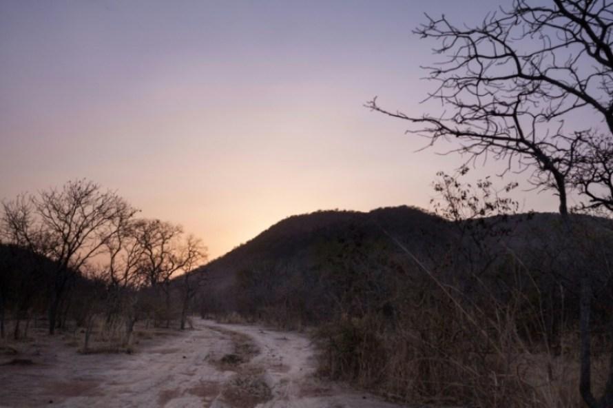 La route permettant de quitter Birao, le 21 décembre 2017 dans le nord de la Centrafrique (c) AFP/ALEXIS HUGUET