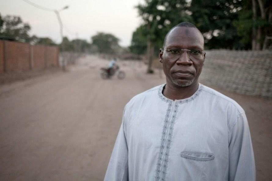 Noureddine Adam, le chef du Front populaire pour la Renaissance de la Centrafrique (FPRC), le 20 décembre 2017 à Birao (c) AFP/Archives/ALEXIS HUGUET