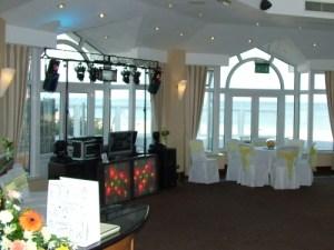 Nice wedding hall set for animation with DJ's material