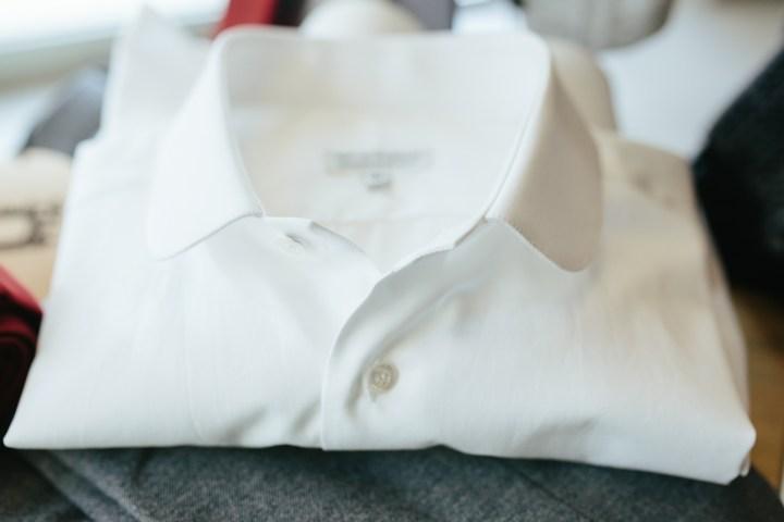 camicia bianca collar club