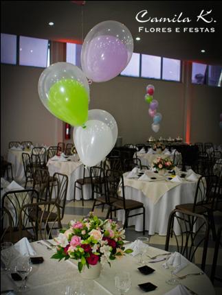 Centro de Mesa com balões...