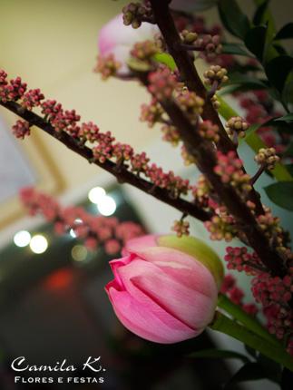 Arranjo Floral com FLOR DE LÓTUS