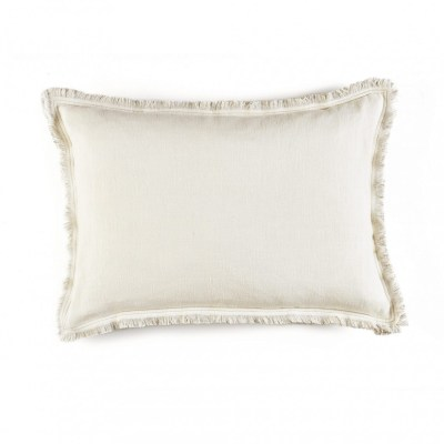 Karma Snow and Flax Linen Cushion