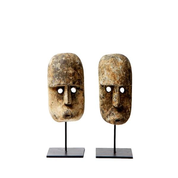 Vintage Wooden Tribal Masks, hand crafted objet