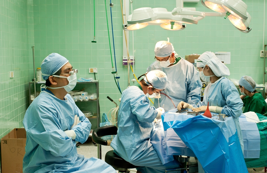 During surgery Operation Smile/ Meditative moment?