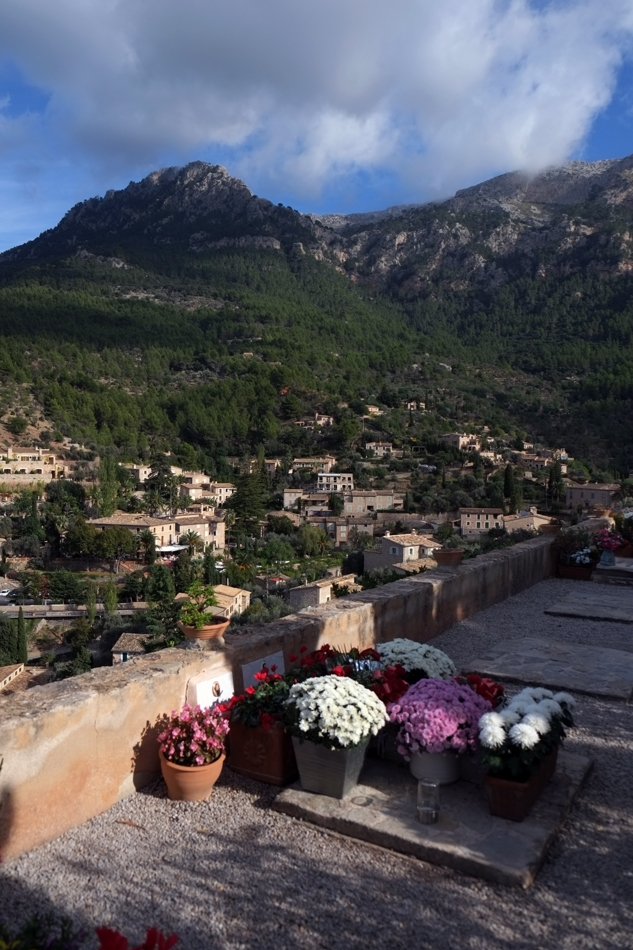 View from the cemetery in Deià, Serra de Tramuntana, Mallorca.