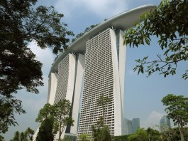 Marina Bay Sands hotel view from the Gardens