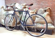 Brets bike at the coffee shop Ceresia Roasters