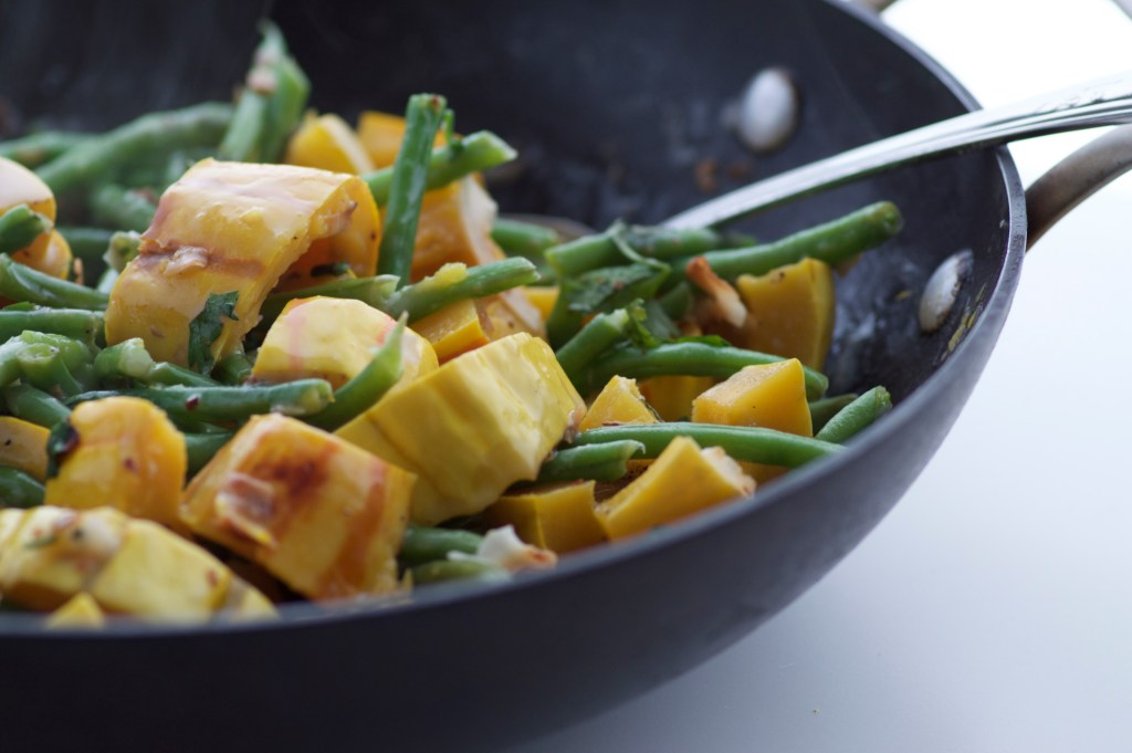 coconut delicata and french green beans