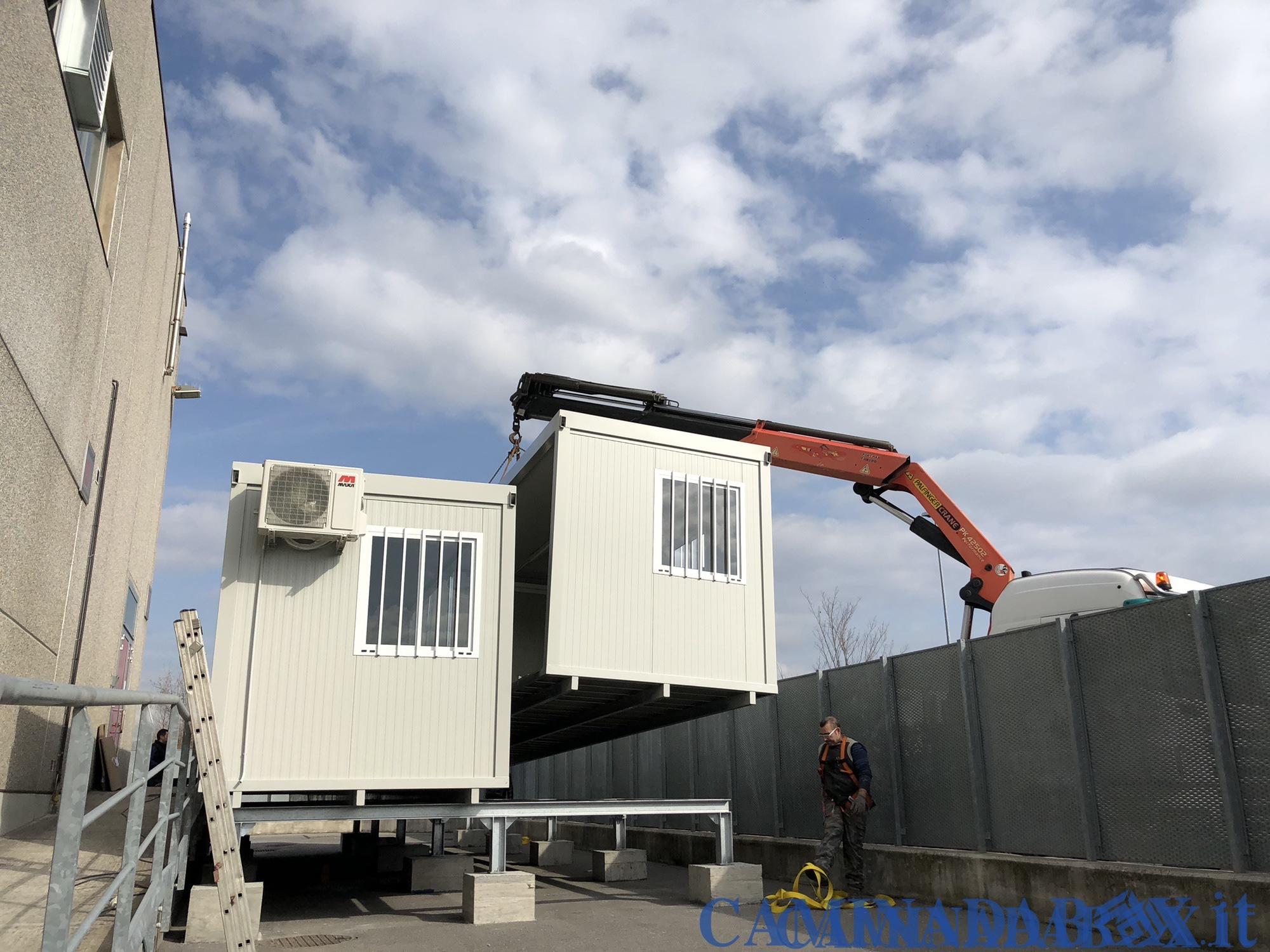 trasporto box uffici prefabbricati