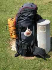 Pyrenees 18 backpack and shell stone
