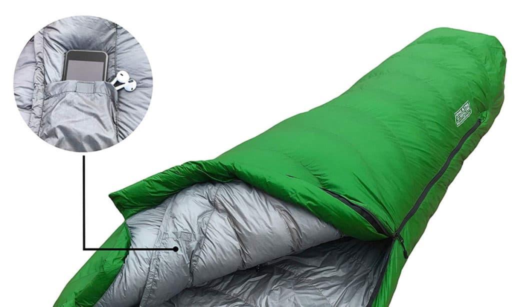 Hyke & Byke 0 Degree F 625 Fill Power Hydrophobic Sleeping Bag with Advanced Synthetic - Ultra Lightweight 4 Season Men's and Women