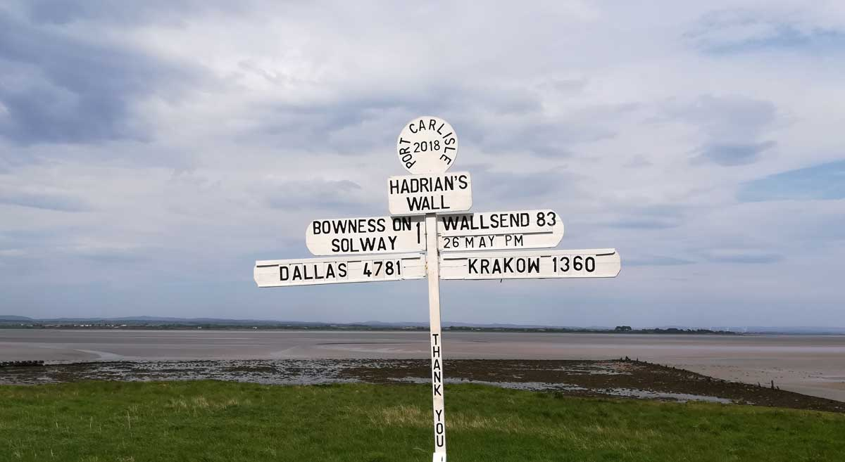 The end of the Hadrian's Wall Path