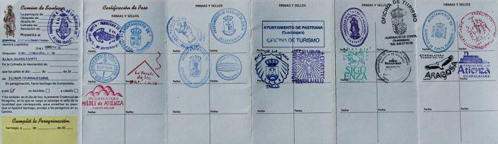 Los certificados del Camino de Santiago- Credencial del Peeregrino sellada ©Forestman