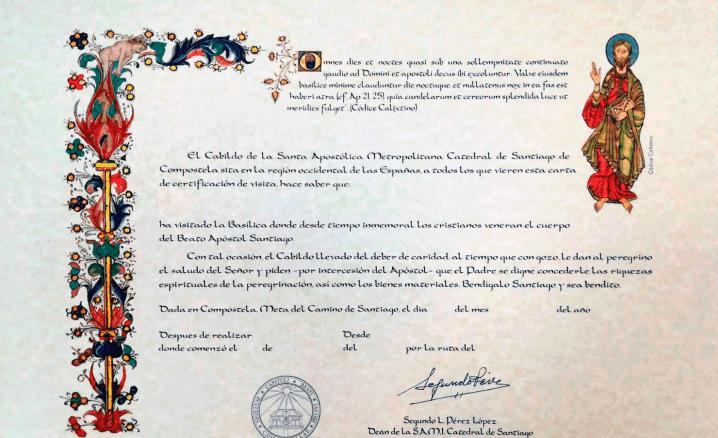 Los certificados del Camino de Santiago - El certificado de distancia