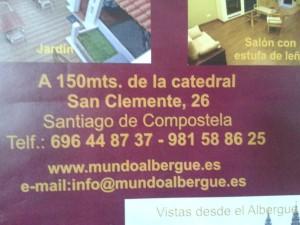 Det planlagte albergue i Santiago.
