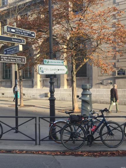 Señalización Avenida Verde en París