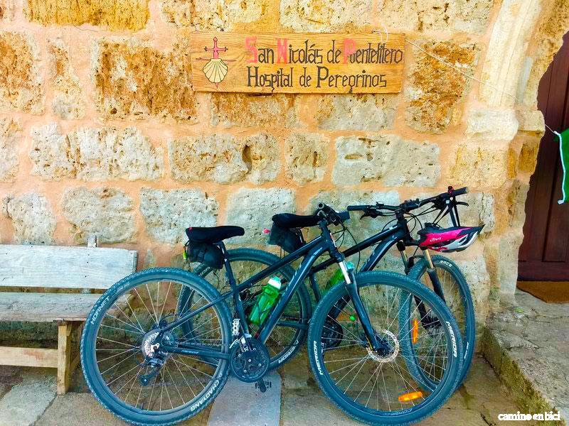 Camino Francés en bici - Etapa Burgos-Frómista - Hospital de Puente Fítero