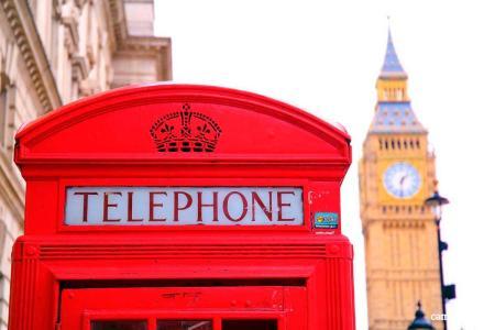 Ruta en Bicicleta - Avenida Verde: París-Londres - Cabina de Teléfono y Big Ben