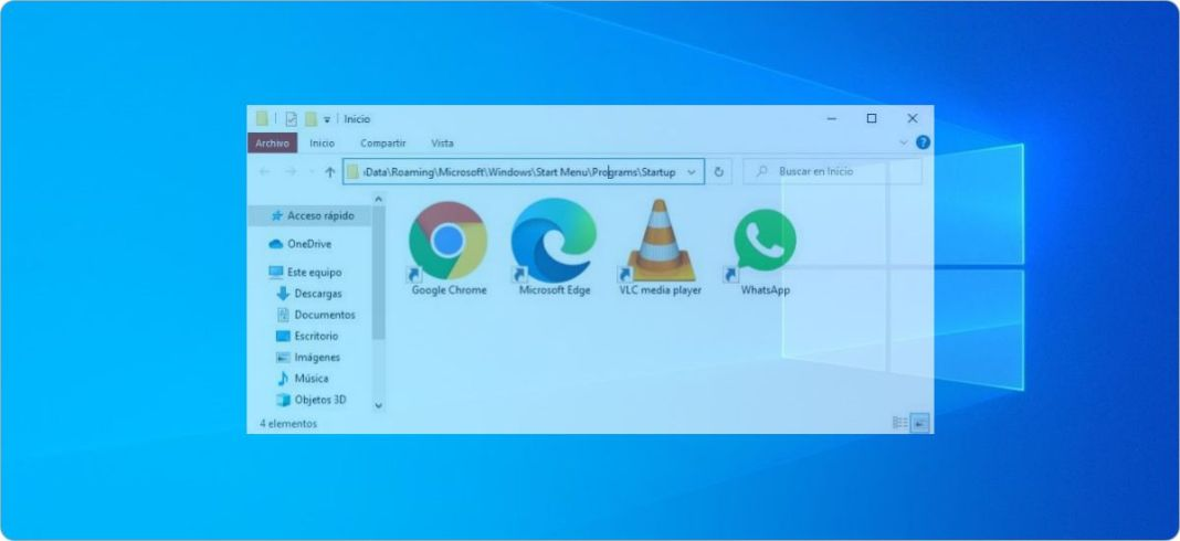 Cómo entrar a la carpeta Inicio en Windows 10