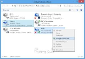 Como crear una red Bridge en Windows 7|8