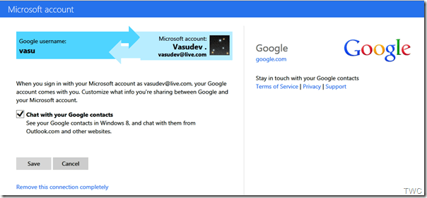 Google chat en SkyDrive 2