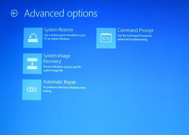 Reparación automática de Windows 8/8.1