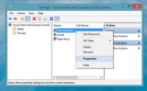 Habilitar Cuenta de Administrador Local de Windows 8.1 en Modo de Grupo