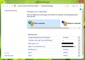 Resuelto: Credential Manager no funciona correctamente en Windows 8 & 7
