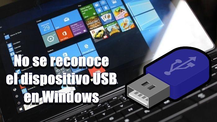 Dispositivo USB desconocido (error de solicitud de descriptor de dispositivo)