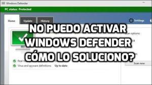 No puedo activar Windows Defender [solucionado]
