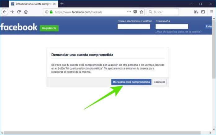 Cómo recuperar mi cuenta de Facebook hackeada